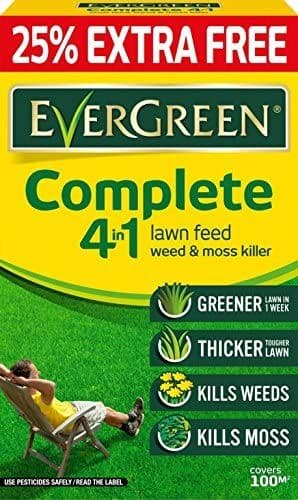 Evergreen Complete 4-in-1 Lawn Care Cartoon (80m2 Plus 25% Free)