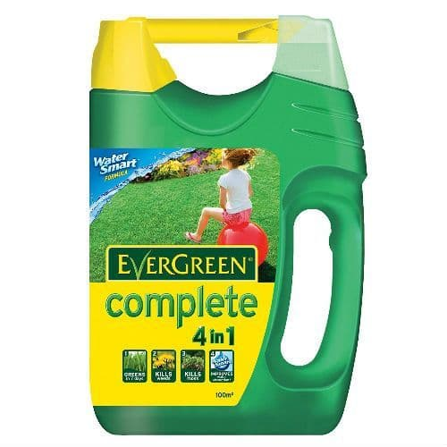 EverGreen Complete 4 In 1Lawn FoodWeed and Moss Killer Spreader100 sq m