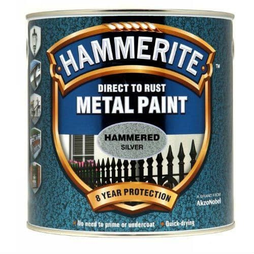 Hammerite Hammered Silver Metal Paint 250ml