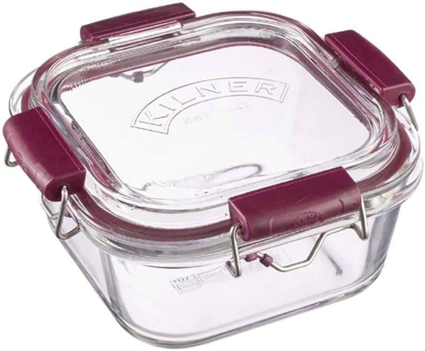 Kilner 0.75L Fresh Storage Stackable Glass Food Container, 15 x 15 x 8.2 cm