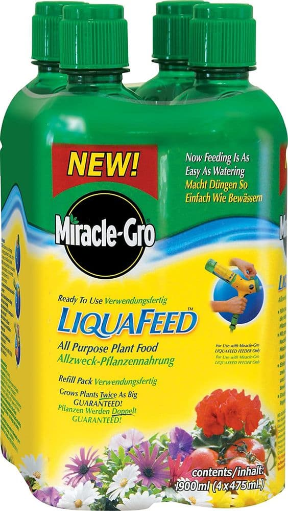 Miracle-Gro LiquaFeed All Purpose Plant Food Refills 4 Pack