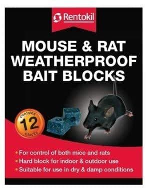 Rentokil FH15 Water Proof Mouse and Rat Killer Bait - Packs of 24
