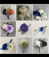 BUTTON HOLES CORSAGES WRIST CORSAGE WEDDING FLOWERS you choose colours for all