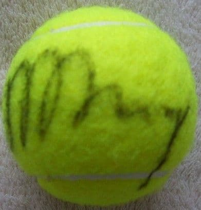 2015 Wimbledon TENNIS BALL Signed by Andy Murray