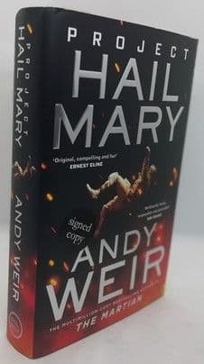 Andy Weir PROJECT HAIL MARY First Edition Signed