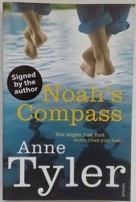 Anne Tyler NOAH'S COMPASS Signed Paperback