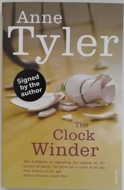Anne Tyler THE CLOCK WINDER Signed Paperback