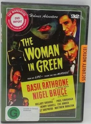 Arthur Conan Doyle THE WOMAN IN GREEN Sealed DVD Basil Rathbone