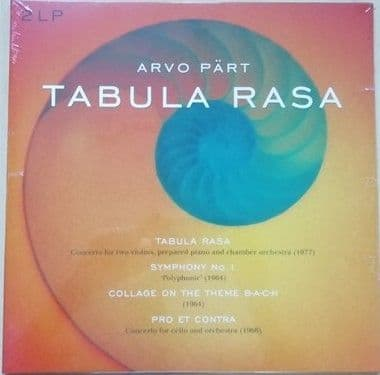 Arvo Part TABULA RASA 2LP Gatefold Set Sealed