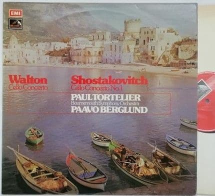 ASD 2924 Walton and Shostakovitch CELLO CONCERTOS Vinyl LP Tortelier TAS Listed