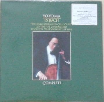Bach UNACCOMPANIED CELLO SUITE 180g 2LP Set Yo-Yo Ma Sealed
