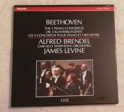Beethoven THE FIVE PIANO CONCERTOS 4LP Box Set Brendel Levine