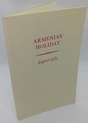 Benjamin Britten Peter Pears ARMENIAN HOLIDAY Double Signed Limited Edition