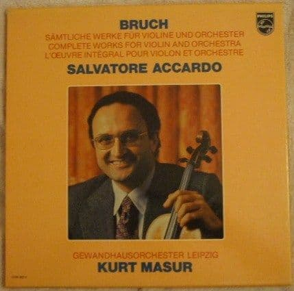 Bruch COMPLETE WORKS FOR VIOLIN AND ORCHESTRA Box Set Accardo Masur