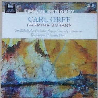 Carl Orff CARMINA BURANA 180g Double LP Ormandy Sealed