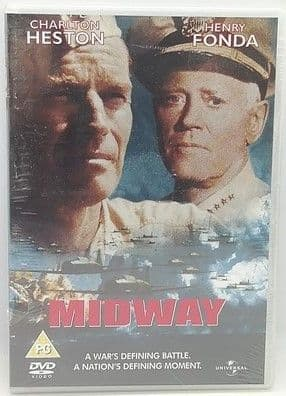 Charlton Heston Henry Fonda MIDWAY Sealed DVD