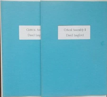 David Langford CRITICAL ASSEMBLY Volumes I and II Signed