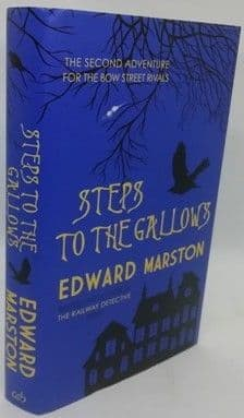 Edward Marston STEPS TO THE GALLOWS First Edition Signed