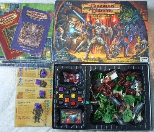 Fantasy Adventure Board Game DUNGEONS AND DRAGONS Complete