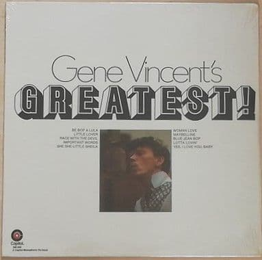 Gene Vincent's GREATEST Vinyl LP Sealed