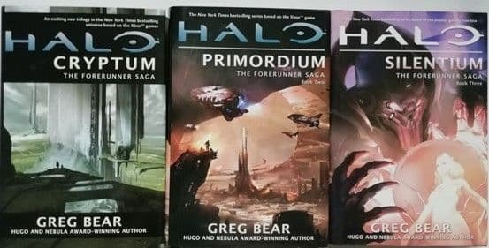 Greg Bear THE HALO FORERUNNER SAGA 3 Book Set First Editions