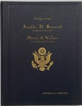 Limited Deluxe Edition THE ROOSEVELT-WALLACE OFFICIAL INAUGURAL PROGRAM Signed