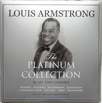 Louis Armstrong THE PLATINUM COLLECTION 3LP White Vinyl Sealed