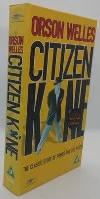 Orson Welles CITIZEN KANE Sealed VHS Video