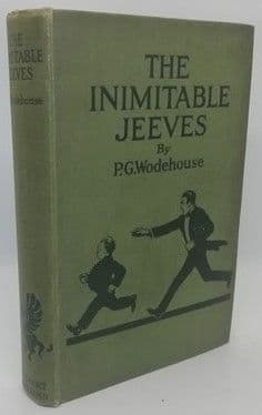 P. G. Wodehouse THE INIMITABLE JEEVES First Edition 1923