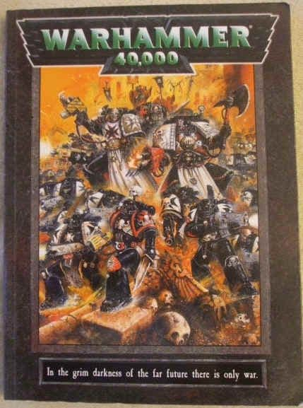 Rick Priestley WARHAMMER 40,000 Rulebook First Edition Paperback