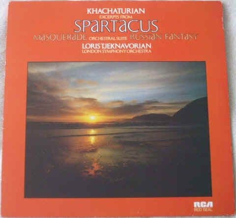 RS 6038 Khachaturian EXCERPTS FROM SPARTACUS MASQUERADE AND RUSSIAN FANTASY Vinyl LP