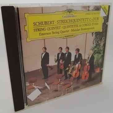 Schubert STRING QUINTET Classical CD Emerson Rostropovich