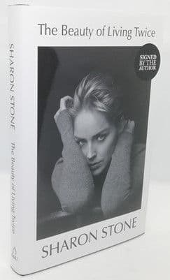 Sharon Stone THE BEAUTY OF LIVING TWICE First Edition Signed Bookplate
