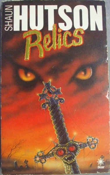 Shaun Hutson RELICS Signed First Edition Paperback