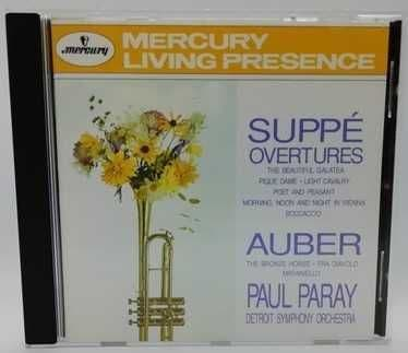 Suppe Auber OVERTURES Paray USA CD No IFPI