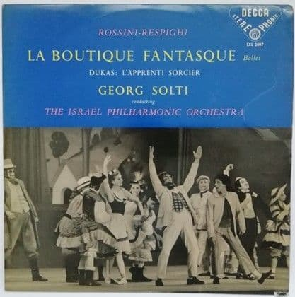 SXL 2007 Rossini-Respighi LA BOUTIQUE FANTASQUE Vinyl LP WBGr Solti