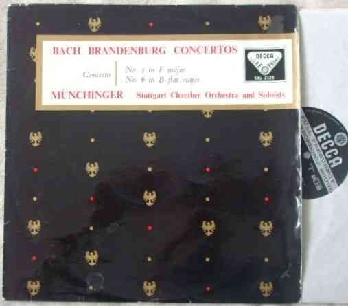 SXL 2125 Bach BRANDENBURG CONCERTOS NO 1 AND NO 6 Vinyl LP Munchinger ED1
