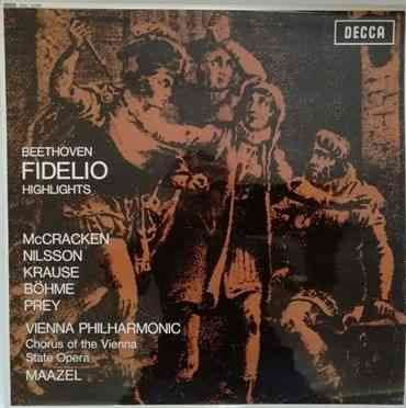 SXL 6276 Beethoven FIDELIO HIGHLIGHTS Vinyl LP ED3 McCracken Nilsson
