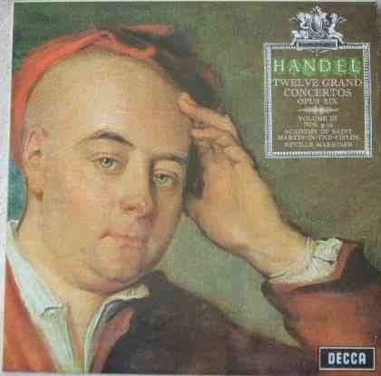 SXL 6371 Handel TWELVE GRAND CONCERTOS Vinyl LP Marriner