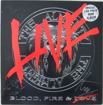 The Almighty BLOOD FIRE AND LOVE LIVE Vinyl LP Multi Signed