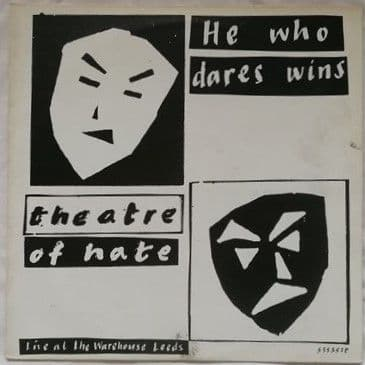 Theatre of Hate HE WHO DARES WINS Vinyl LP Multi Signed