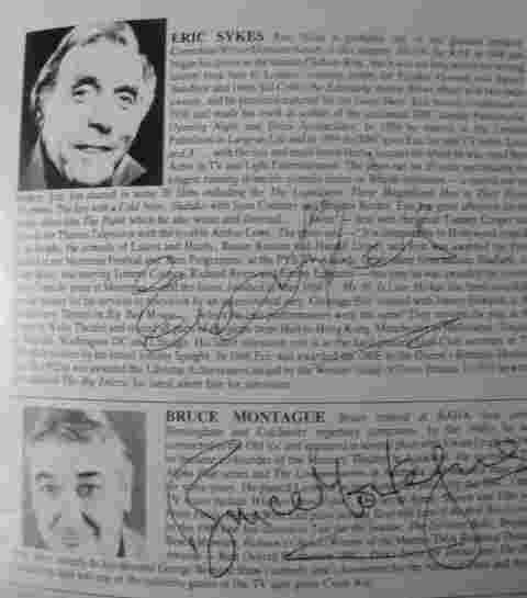 Tom Stoppard ROUGH CROSSING Theatre Programme Signed by Eric Sykes and Others