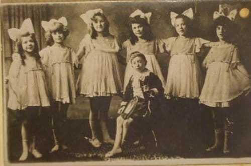Vintage Real Photo Postcard of CHILDREN GROUP