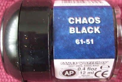 Warhammer CHAOS BLACK Paint New & Unopened