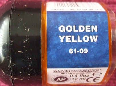 Warhammer GOLDEN YELLOW Paint New & Unopened