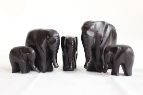 Animal Family - African Wood Carving