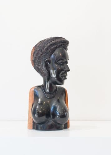 Female Bust  - African Ebony Wood Carving