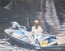 River Transaction - African Oil Painting