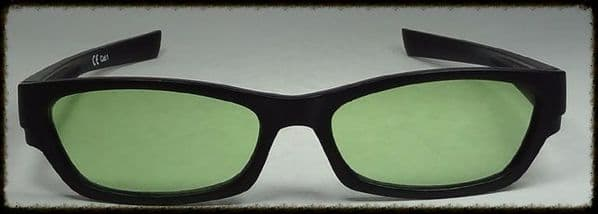 Green tinted Glasses suitable for age 10 upward