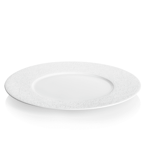 Degrenne Paris 'Collection L Couture' White Porcelain Dinner Plate 28cm